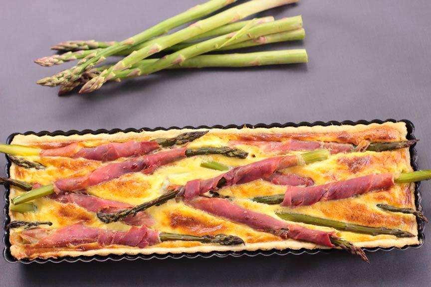 torta salata agli aspargi